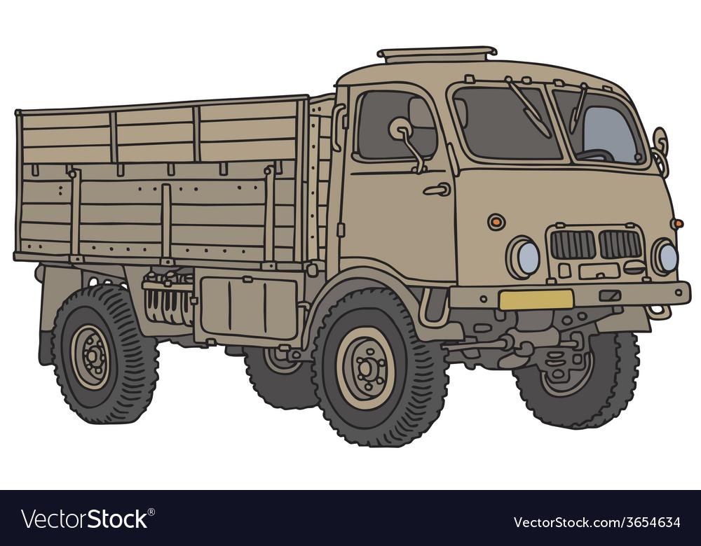 Miliary truck vector | Price: 1 Credit (USD $1)