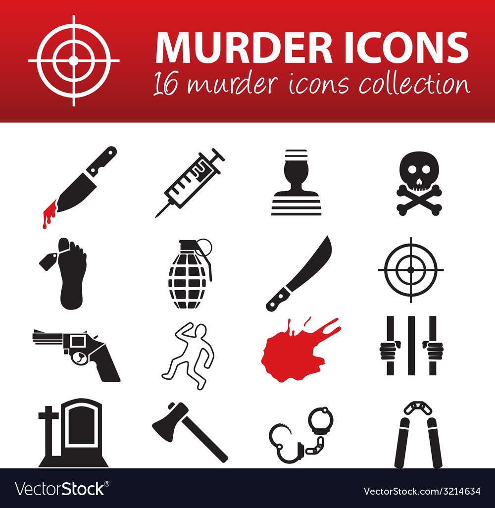 Murder icons vector | Price: 1 Credit (USD $1)