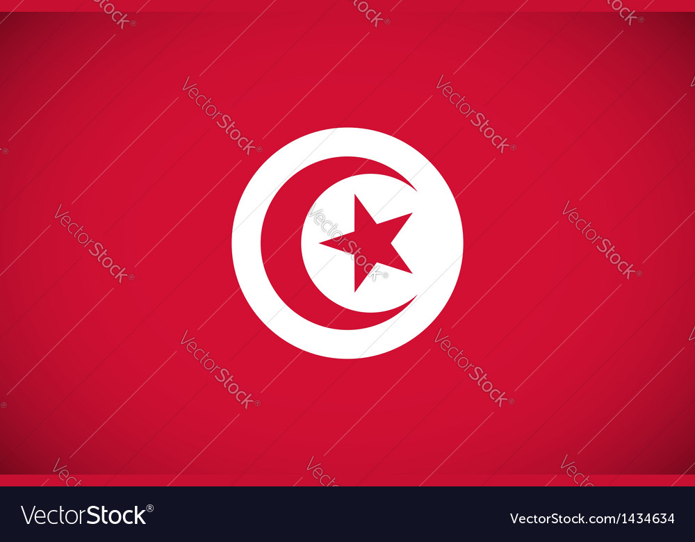 National flag of tunisia vector   Price: 1 Credit (USD $1)