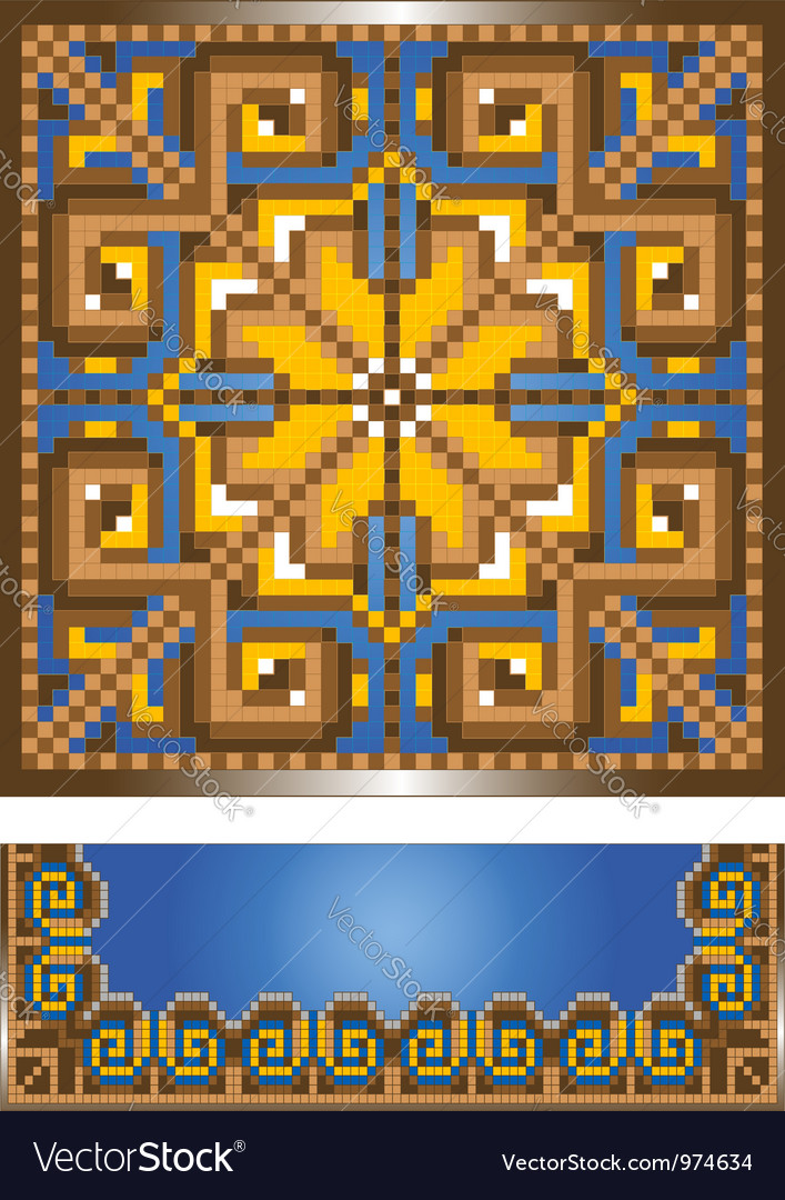 Ornament for the blue carpet vector | Price: 1 Credit (USD $1)