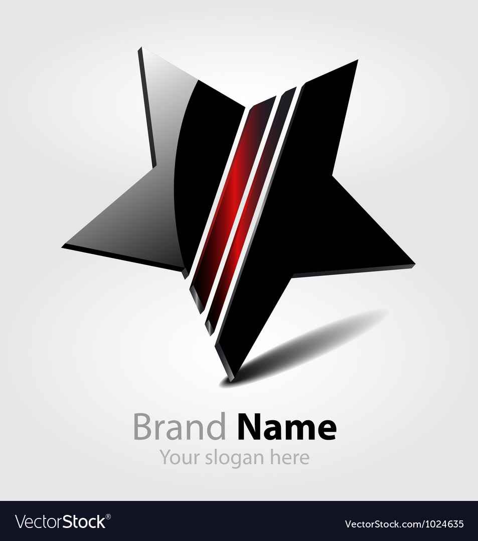 Brand black star logo vector | Price: 1 Credit (USD $1)