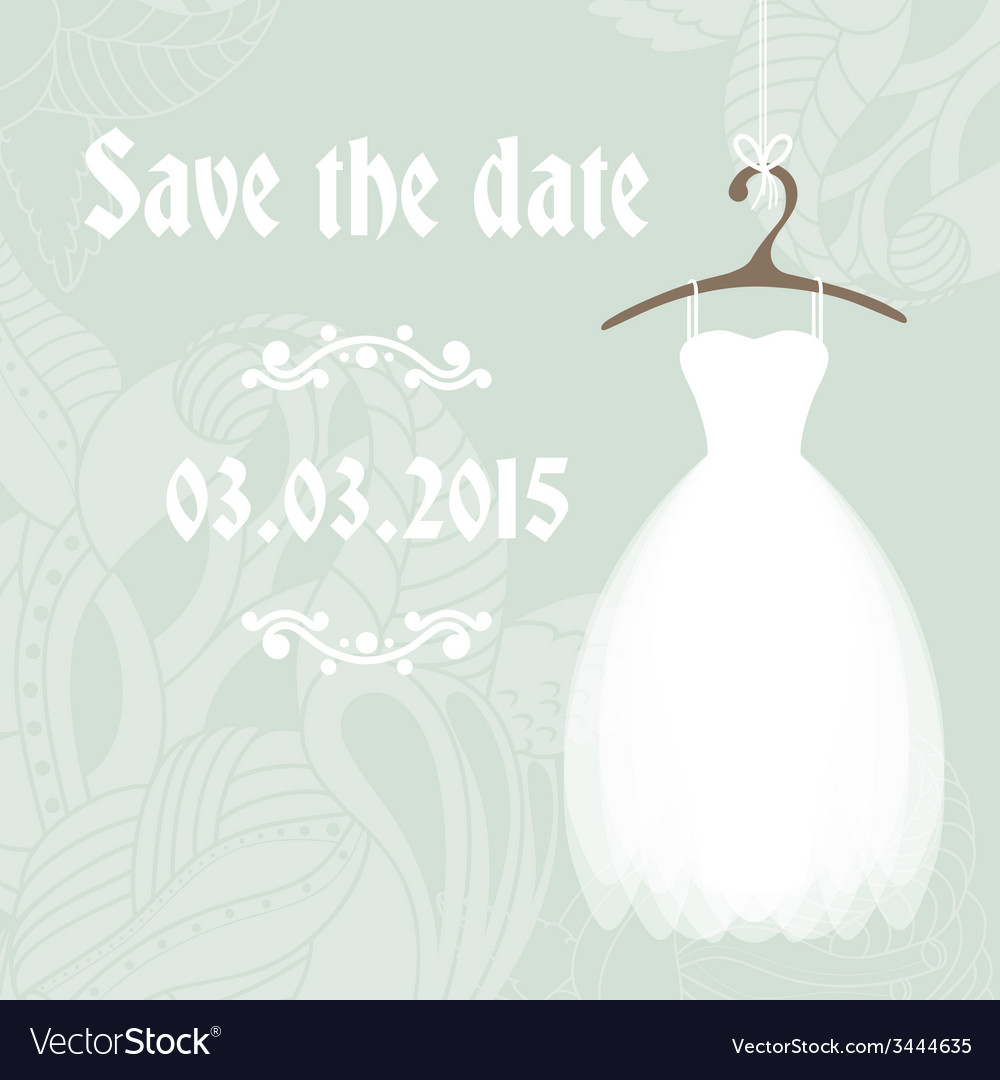 Bridal shower invitation cadr template vector | Price: 1 Credit (USD $1)