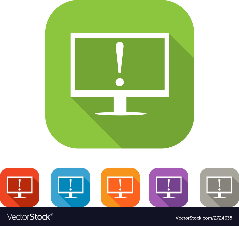 Color set of flat warning icon vector | Price: 1 Credit (USD $1)