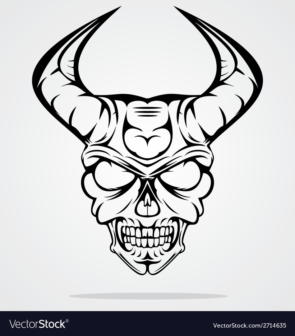 Demon head vector | Price: 1 Credit (USD $1)
