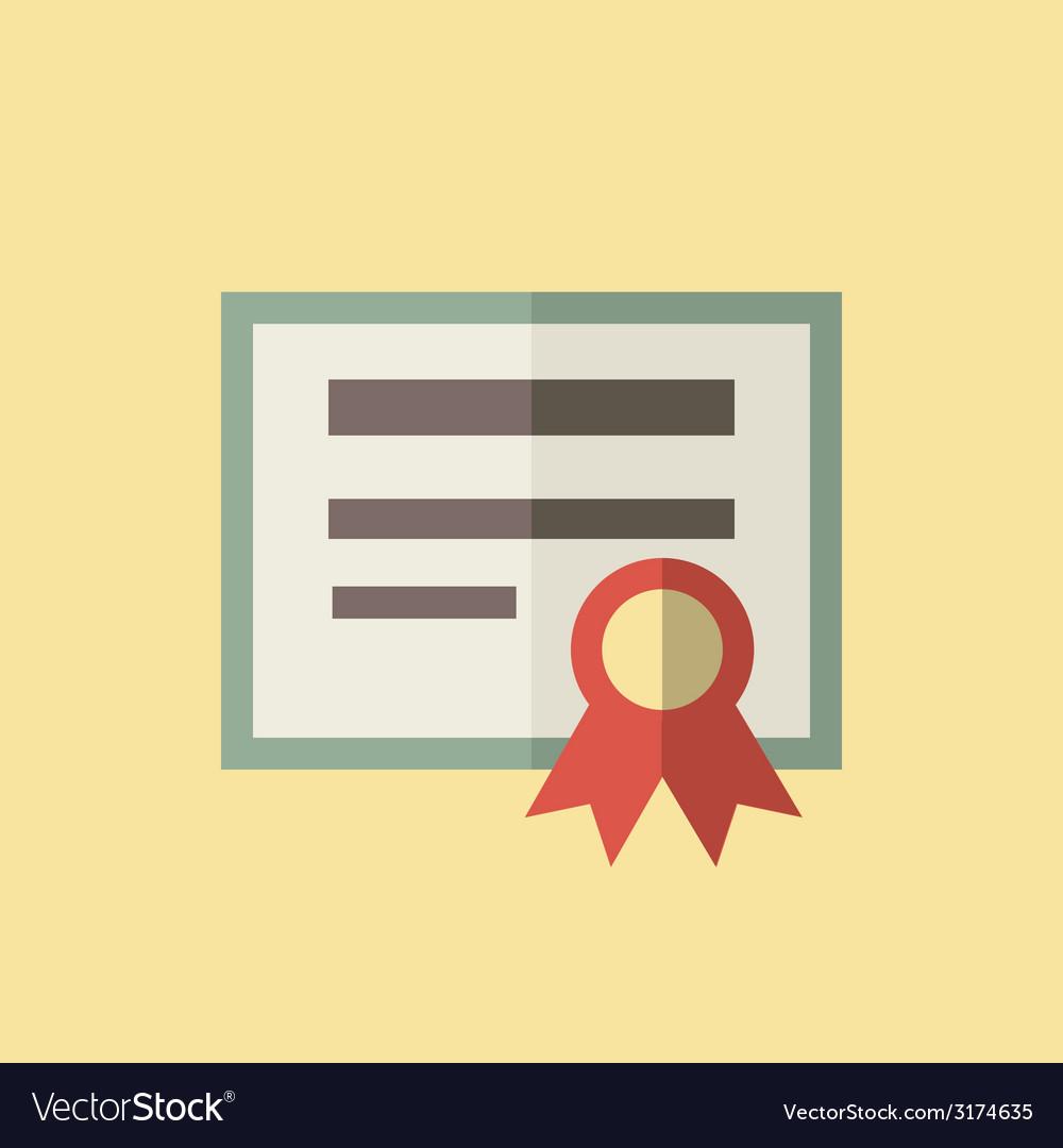 Diploma icon vector | Price: 1 Credit (USD $1)