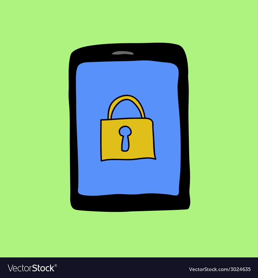Doodle pad with lock vector | Price: 1 Credit (USD $1)