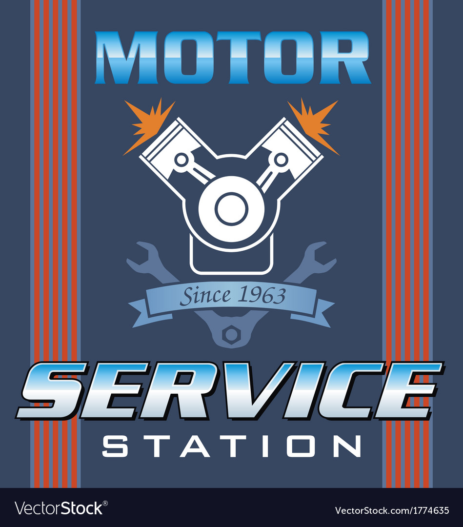 Engine service vector | Price: 1 Credit (USD $1)