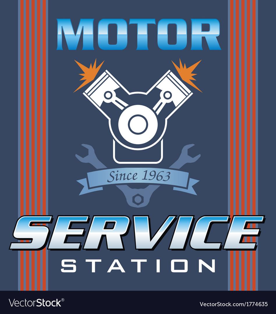 Engine service vector | Price: 1 Credit (USD $1)