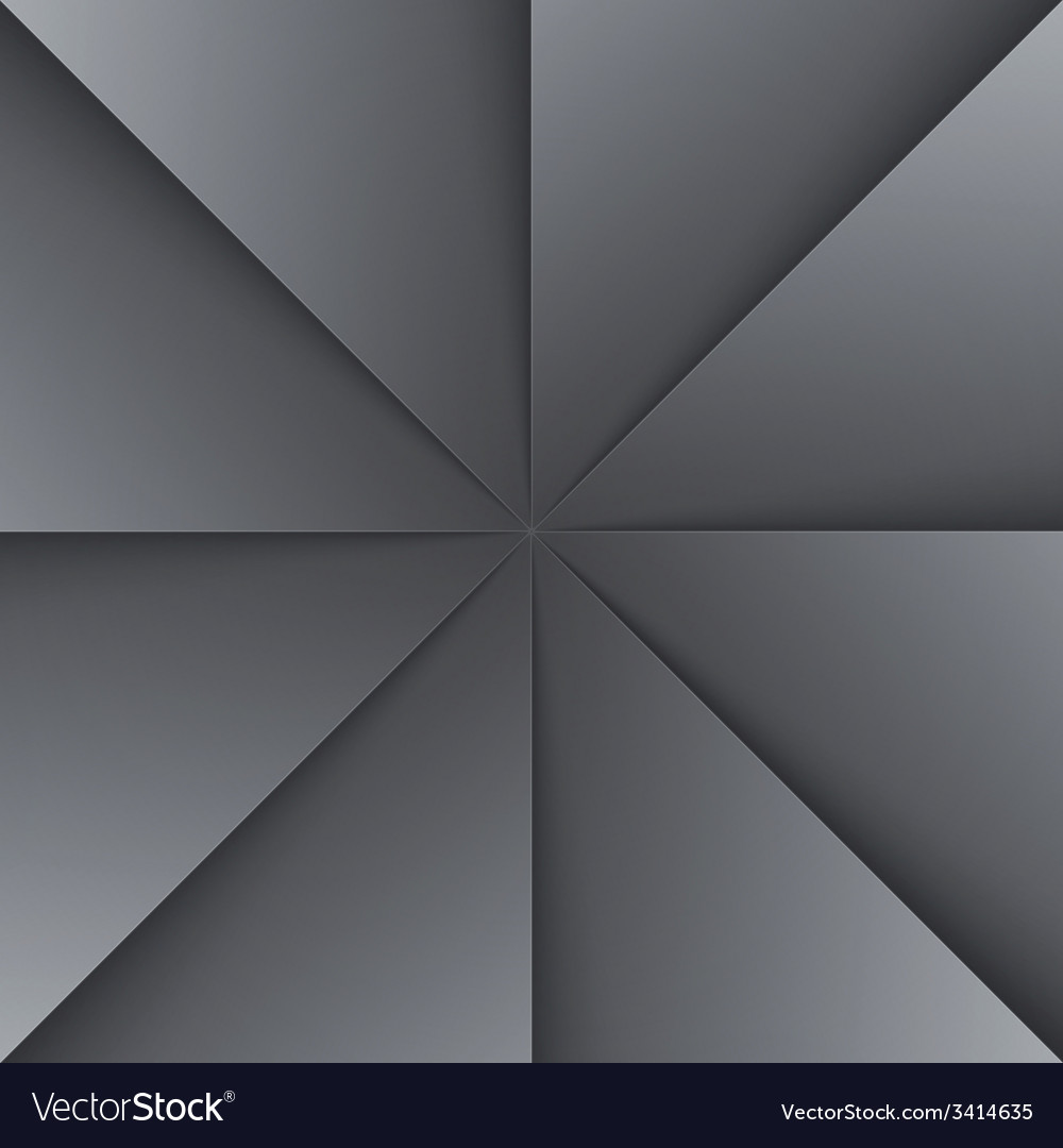 Gray and black folded paper triangles background vector | Price: 1 Credit (USD $1)