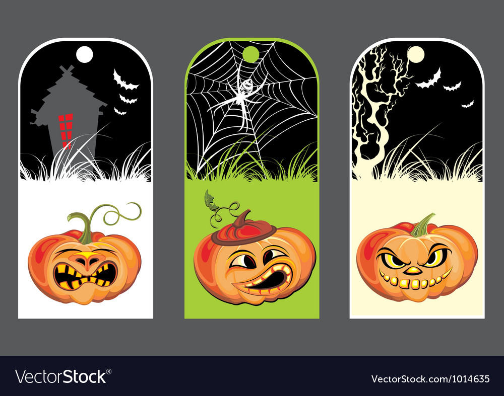 Halloween pumpkin banners vector | Price: 3 Credit (USD $3)