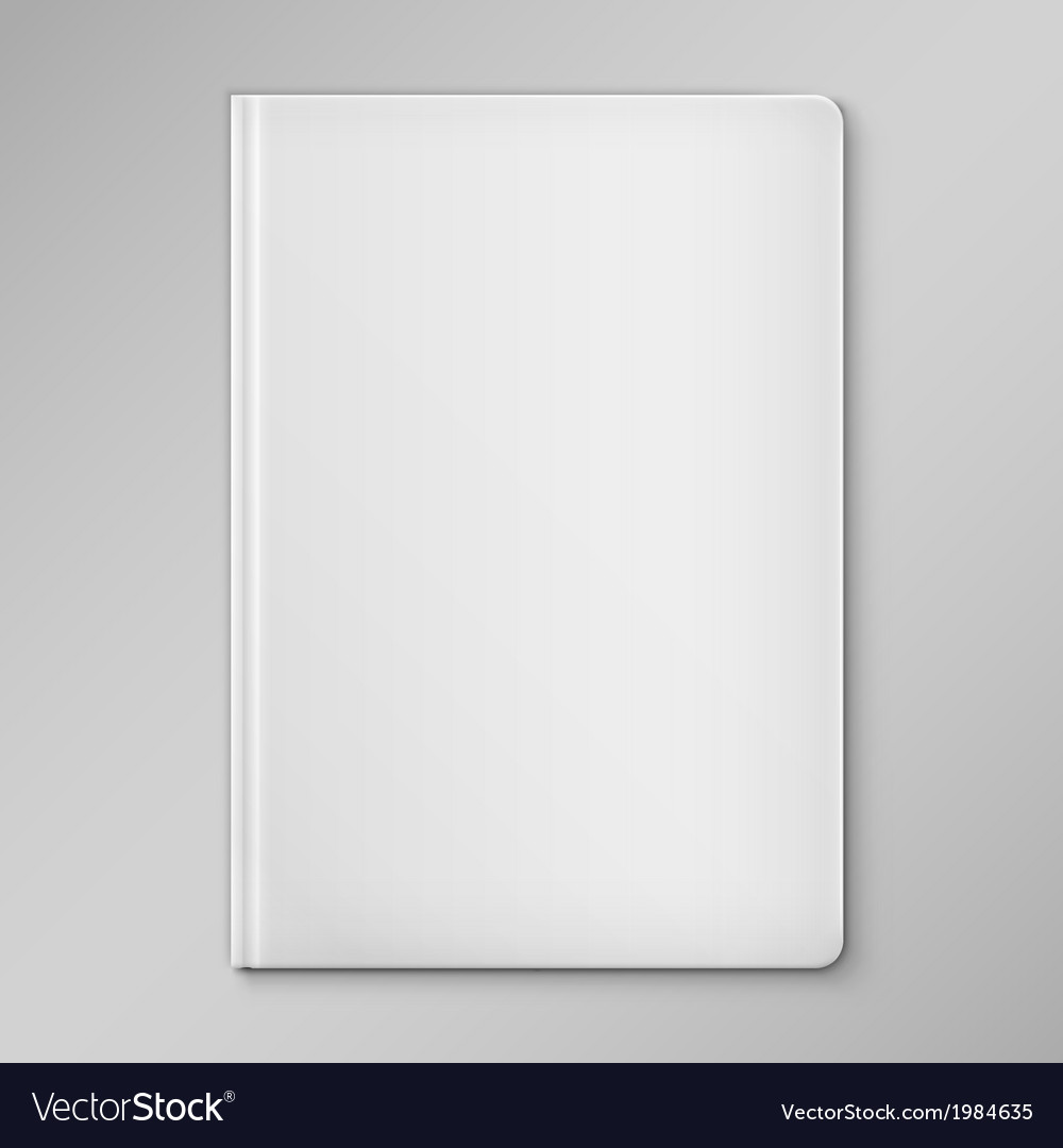 Isolated white blank book cover vector | Price: 1 Credit (USD $1)