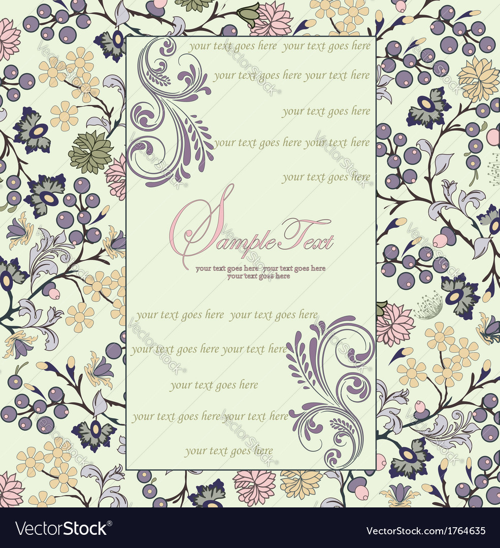 Ornate frame with floral elements vector | Price: 1 Credit (USD $1)