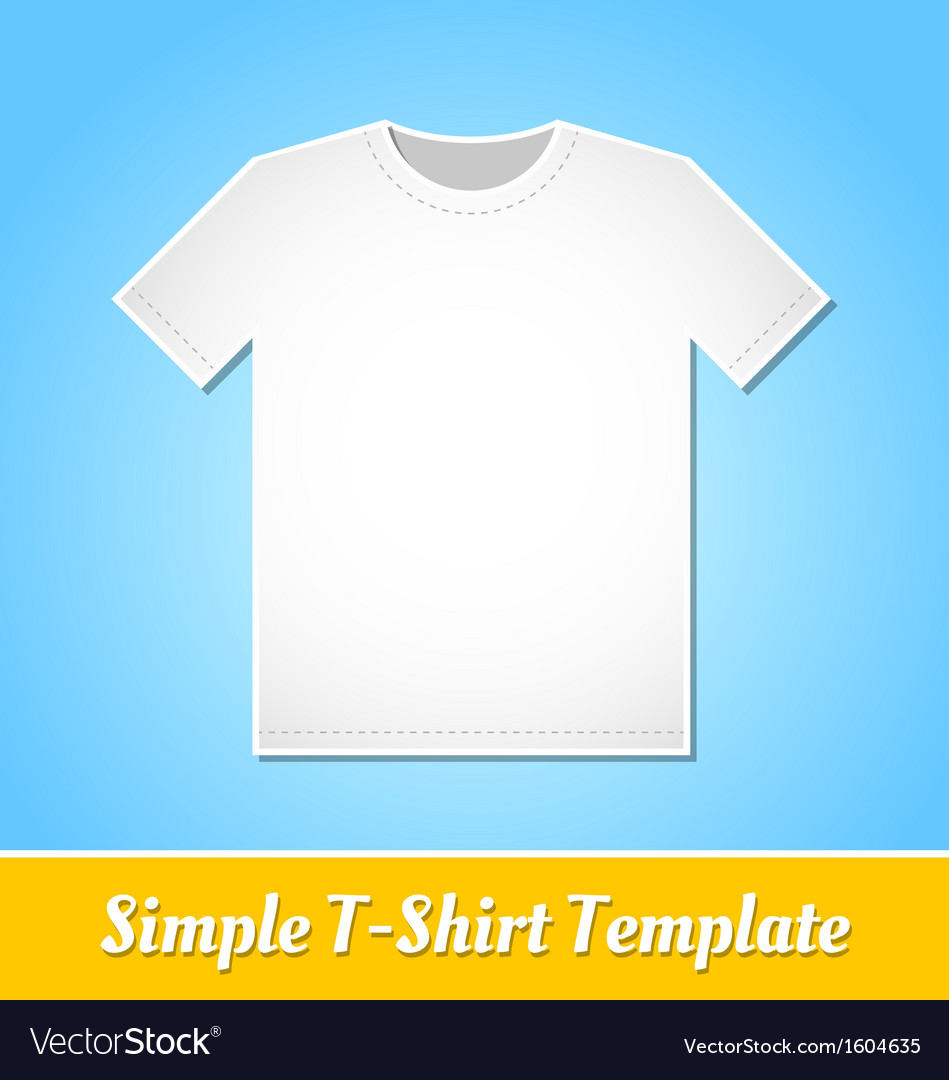 Simple t-shirt template vector | Price: 1 Credit (USD $1)