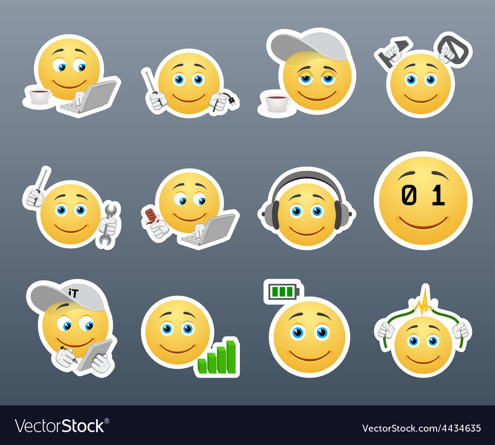 Smilies it system vector | Price: 1 Credit (USD $1)
