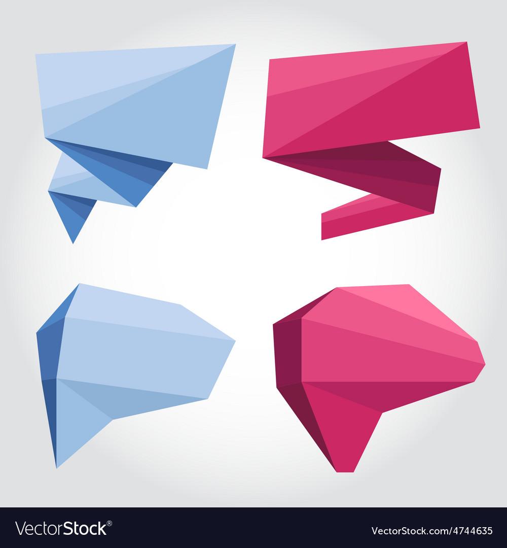Speech bubbles origami vector | Price: 1 Credit (USD $1)
