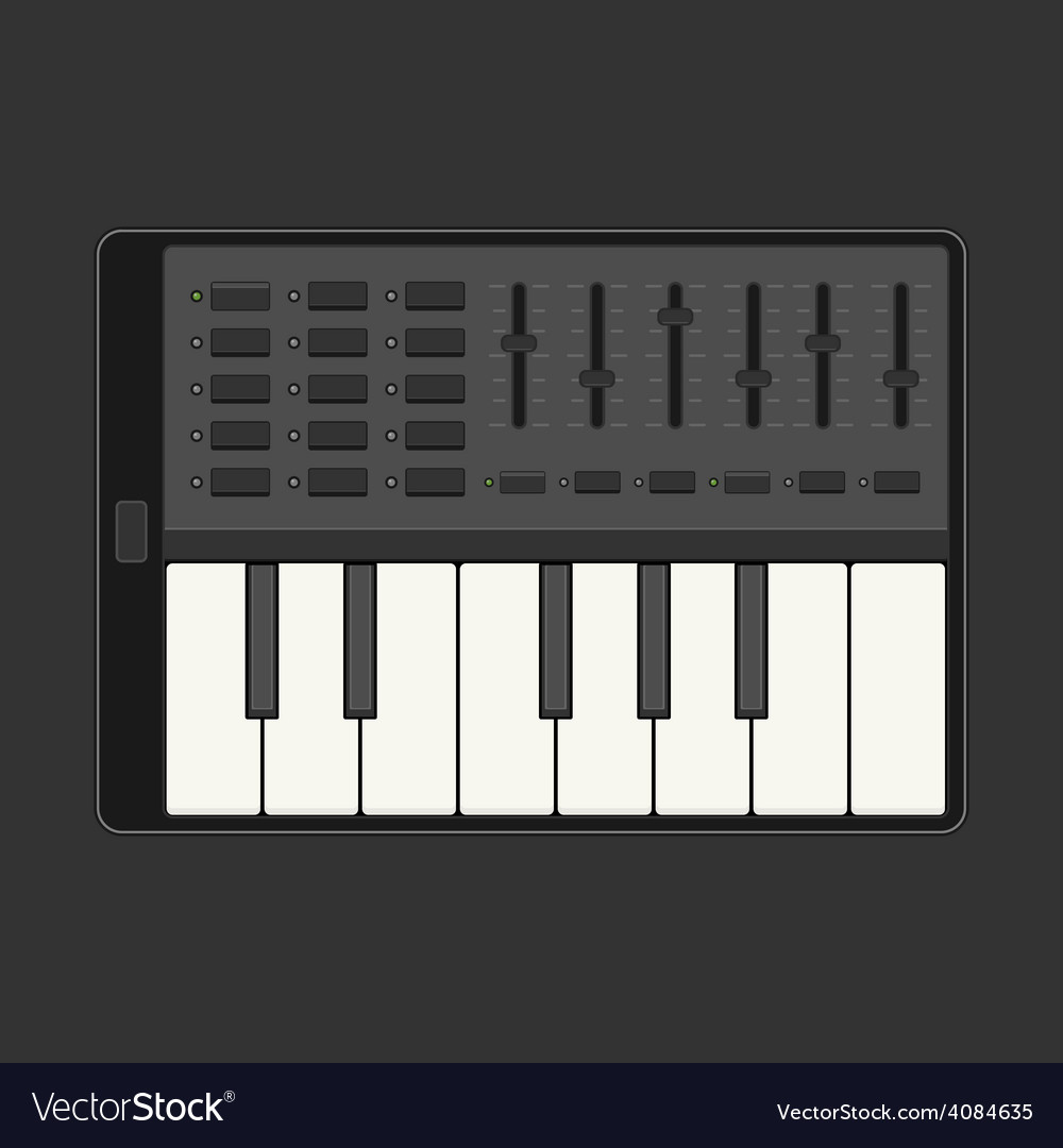 Touch the piano vector   Price: 1 Credit (USD $1)