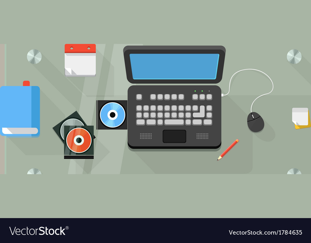 Working place of an office manager vector | Price: 1 Credit (USD $1)