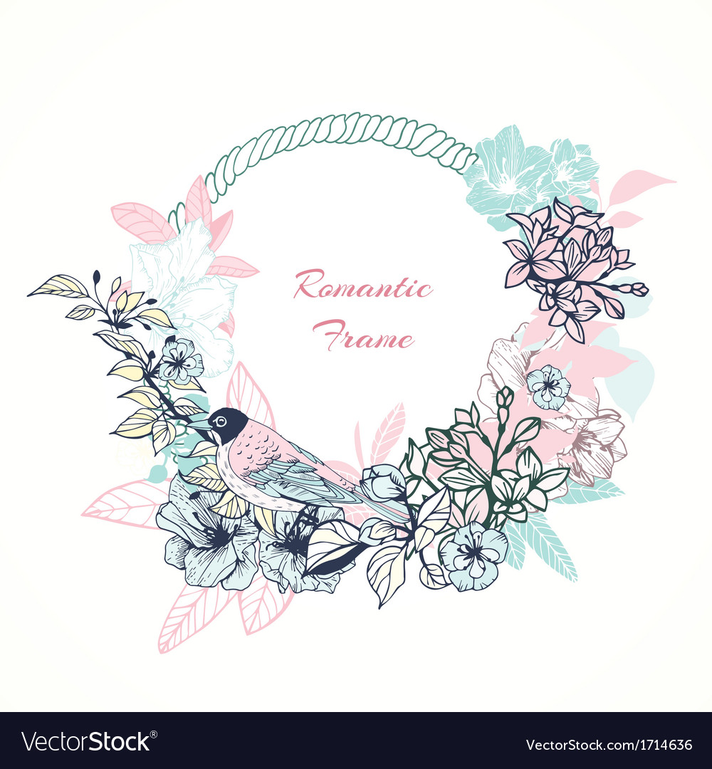Gentle romantic frame vector | Price: 1 Credit (USD $1)