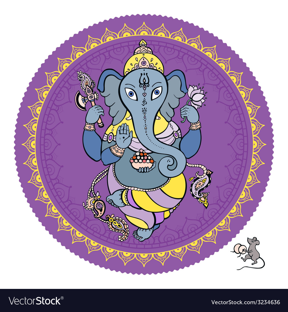 Lord ganesha hand drawn vector | Price: 1 Credit (USD $1)