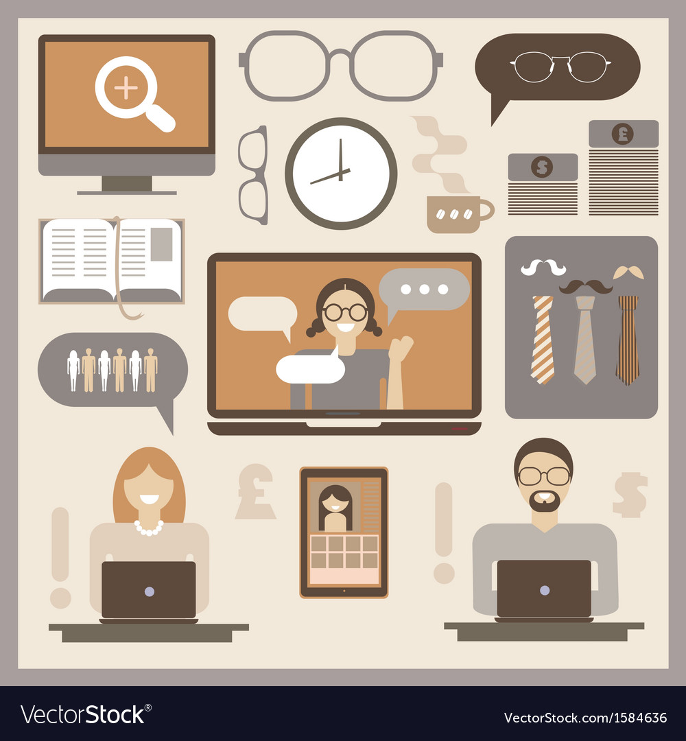 Office infographic vector | Price: 1 Credit (USD $1)