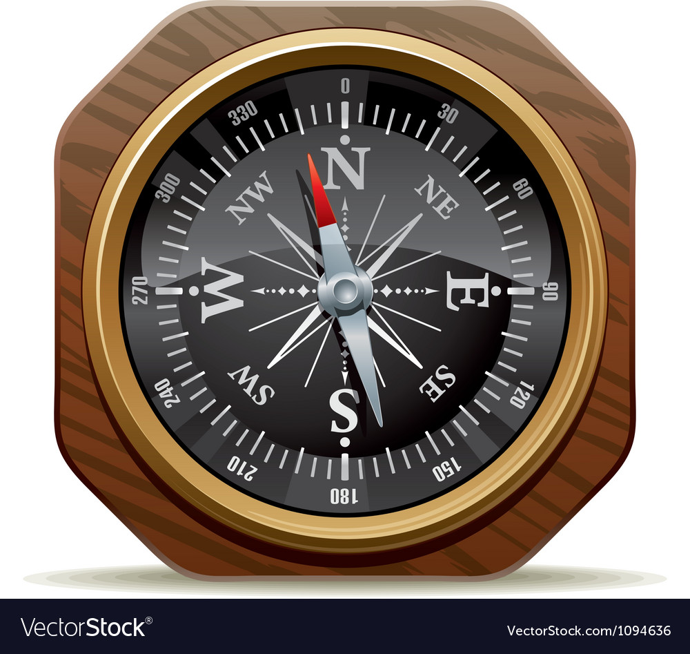 Old compass vector | Price: 3 Credit (USD $3)