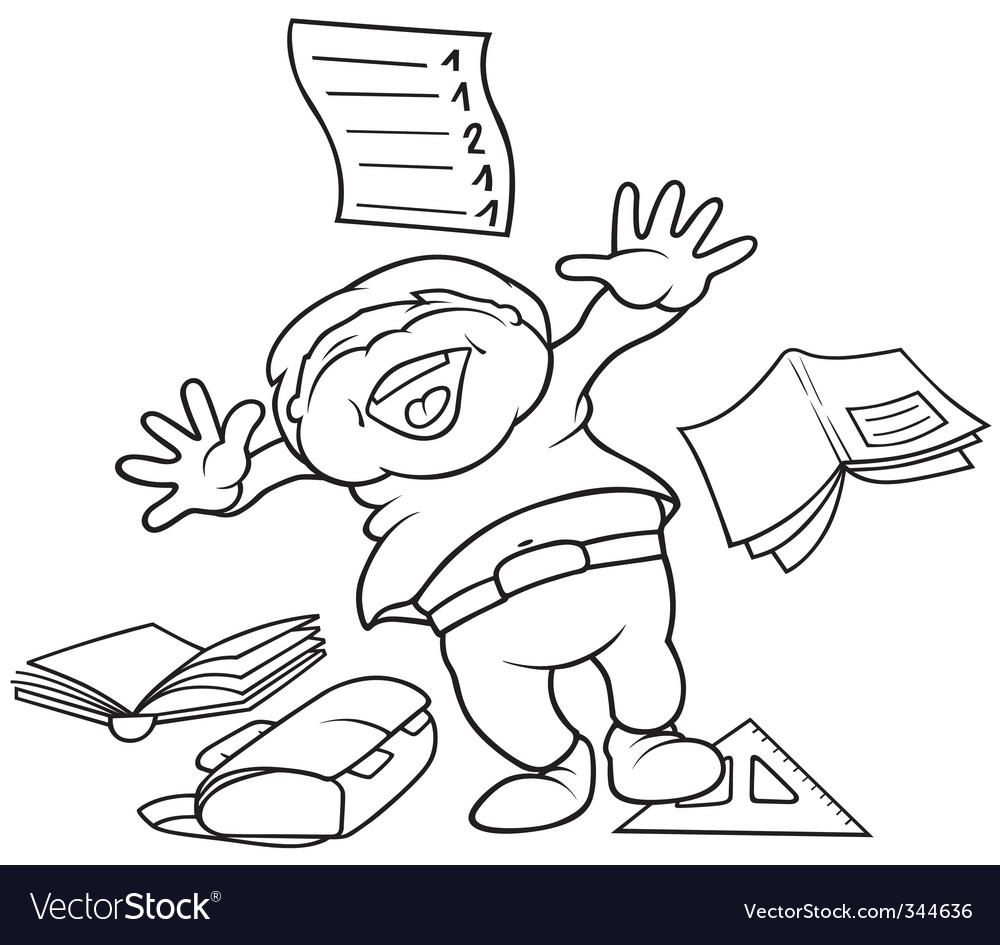 School boy cartoon vector   Price: 1 Credit (USD $1)