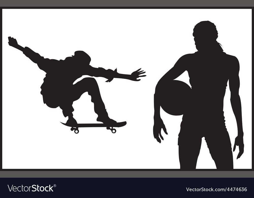 Sports and athletics silhouette vector | Price: 1 Credit (USD $1)