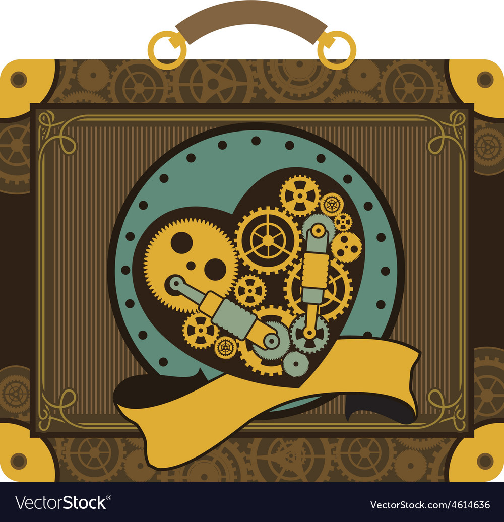 Steampunk mechanical heart vector   Price: 1 Credit (USD $1)