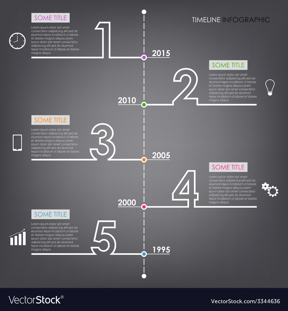Time line info graphic number design template vector | Price: 1 Credit (USD $1)