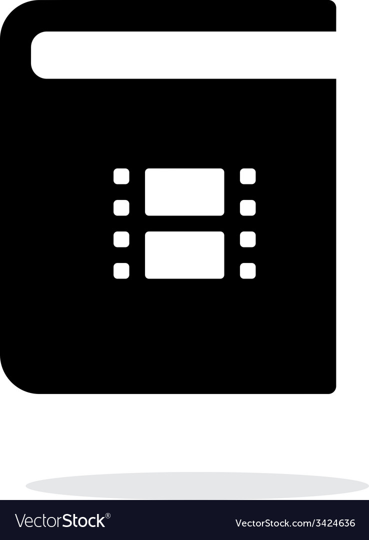 Video book simple icon on white background vector   Price: 1 Credit (USD $1)