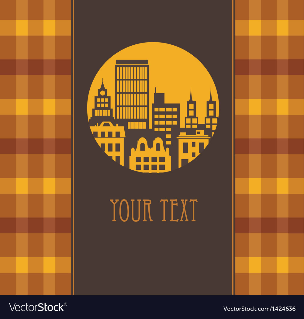 Yellow city vector | Price: 1 Credit (USD $1)