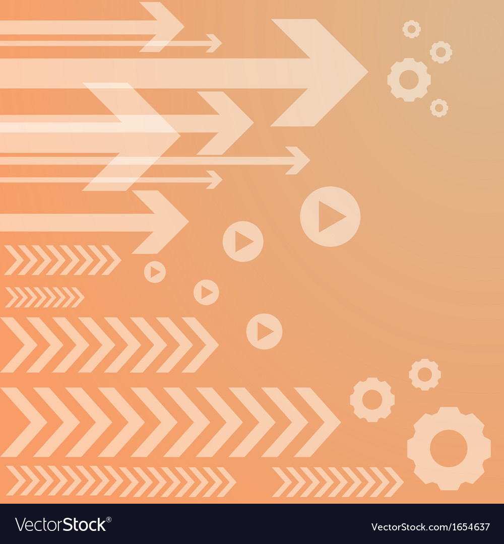 Abstract arrow on orange background vs vector | Price: 1 Credit (USD $1)