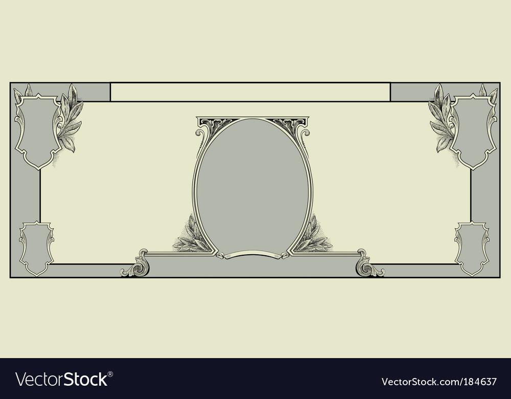 Blank dollar template vector | Price: 1 Credit (USD $1)