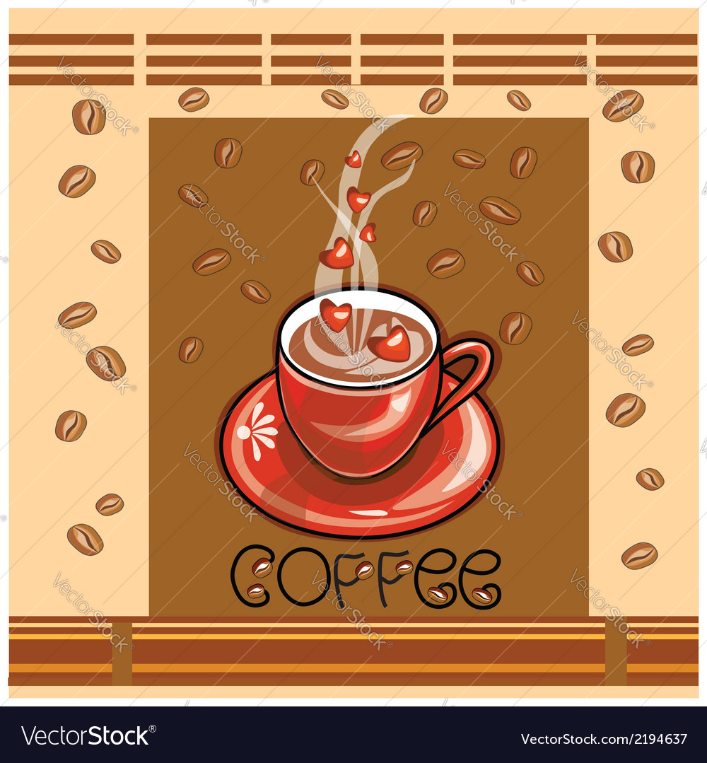 Coffee and love vector | Price: 1 Credit (USD $1)