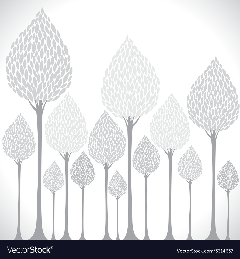Creative grey tree background vector | Price: 1 Credit (USD $1)