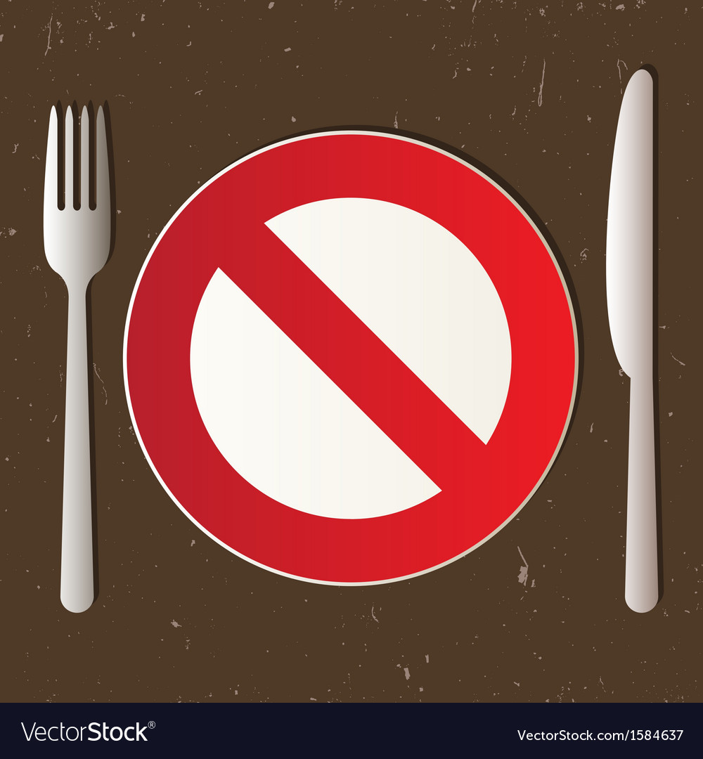 Cutlery and prohibited sign vector | Price: 1 Credit (USD $1)