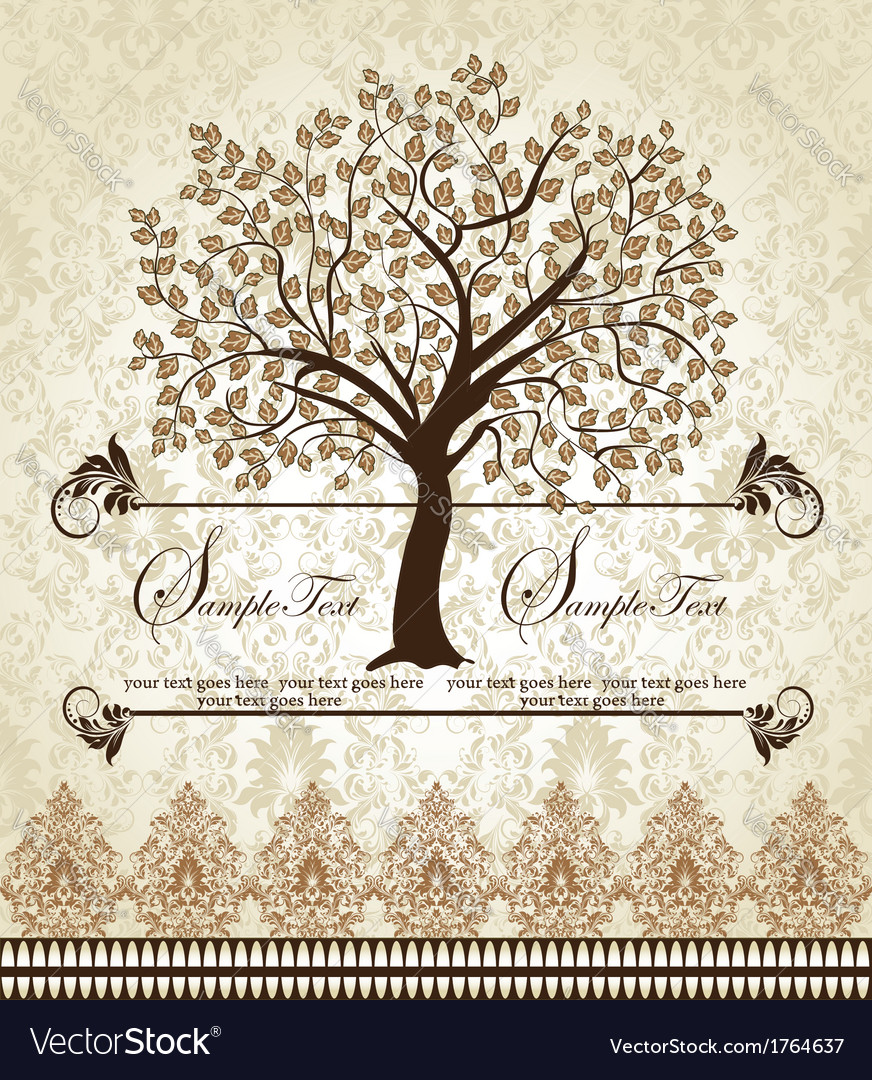 Family reunion invitation card vector | Price: 1 Credit (USD $1)