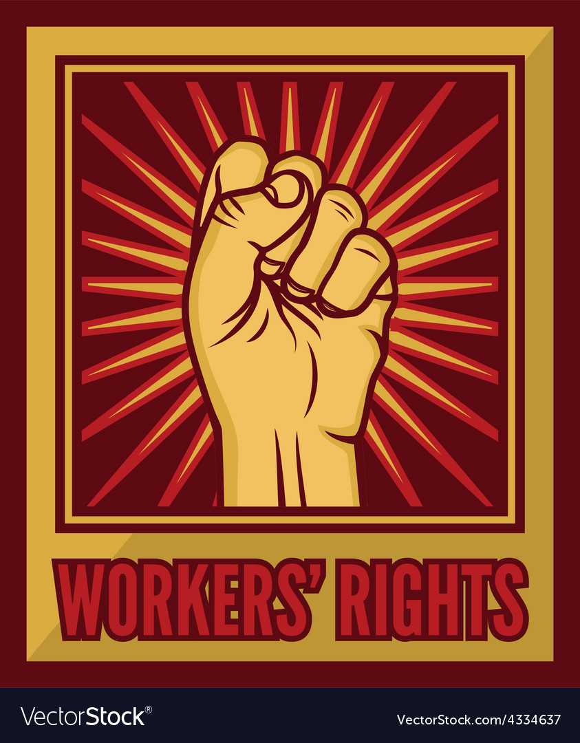 Fist worker right1 resize vector | Price: 1 Credit (USD $1)