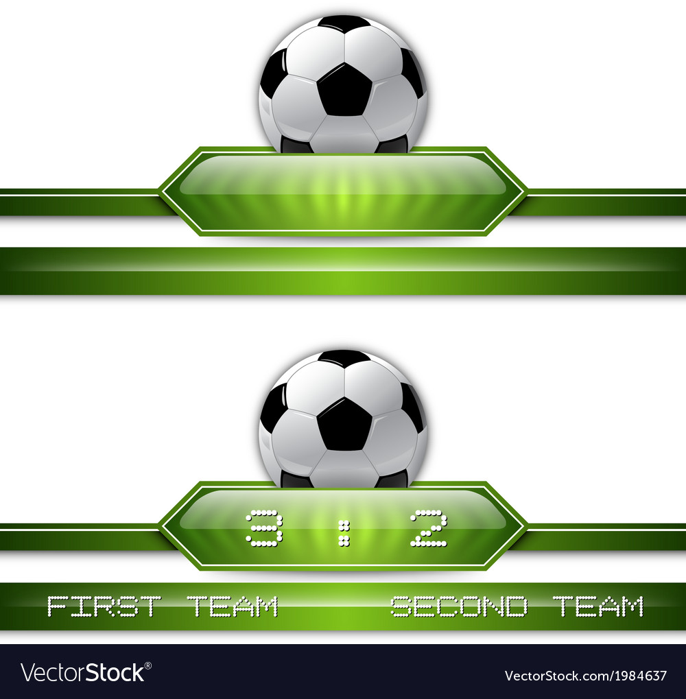 Football score vector | Price: 1 Credit (USD $1)