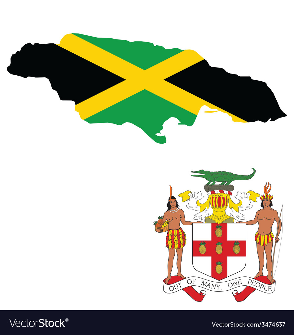 Jamaica flag vector | Price: 1 Credit (USD $1)