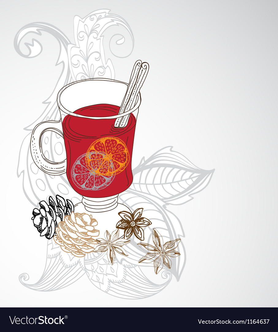 Mulled warm wine background vector | Price: 1 Credit (USD $1)