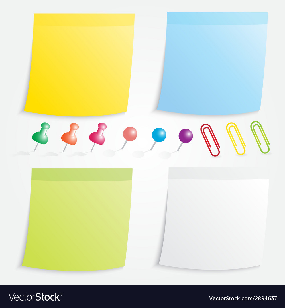 Post paper and pin collection vector | Price: 1 Credit (USD $1)