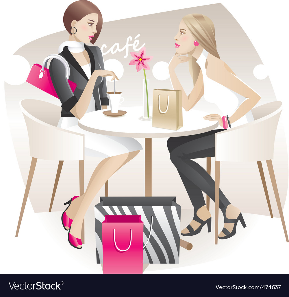 Shopaholics vector | Price: 3 Credit (USD $3)