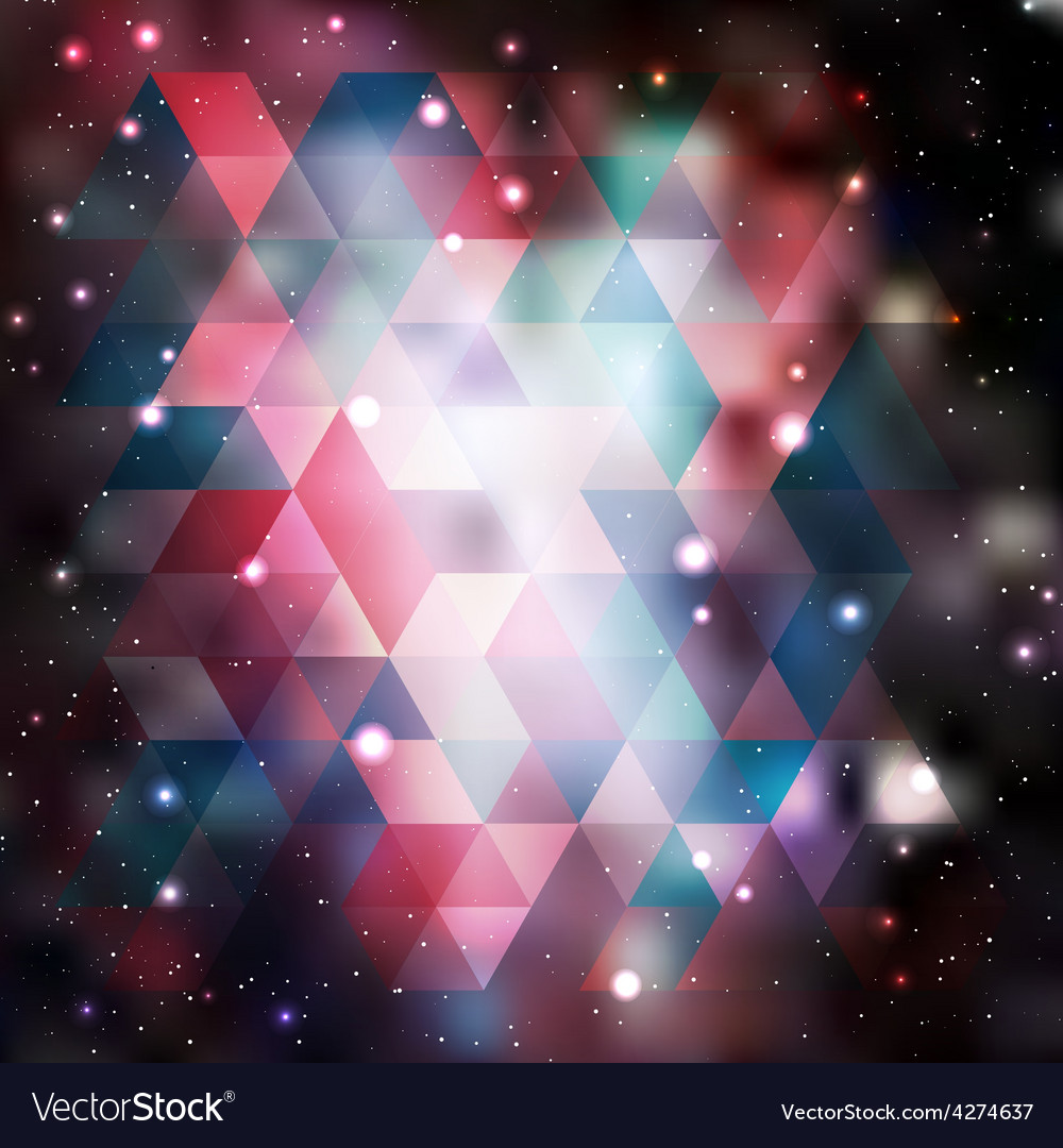 Triangle background with galaxy texture vector | Price: 1 Credit (USD $1)