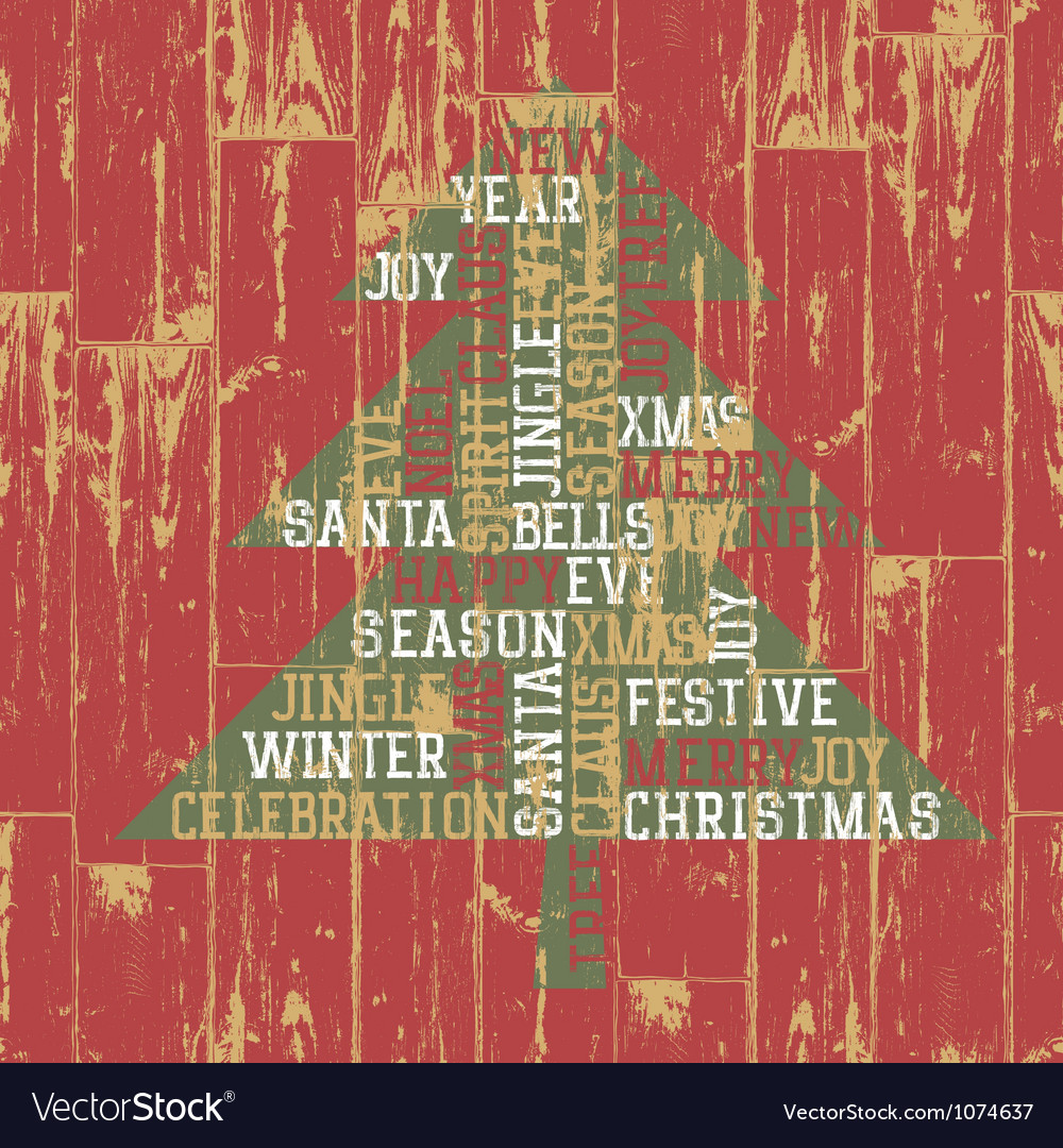 Xmas tree from words vector | Price: 1 Credit (USD $1)