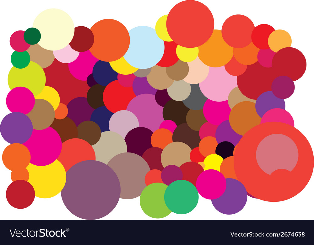 Abstract color circles background vector | Price: 1 Credit (USD $1)