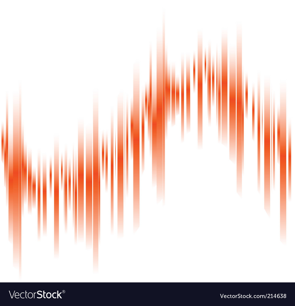 Abstract orange lines in perspective vector | Price: 1 Credit (USD $1)