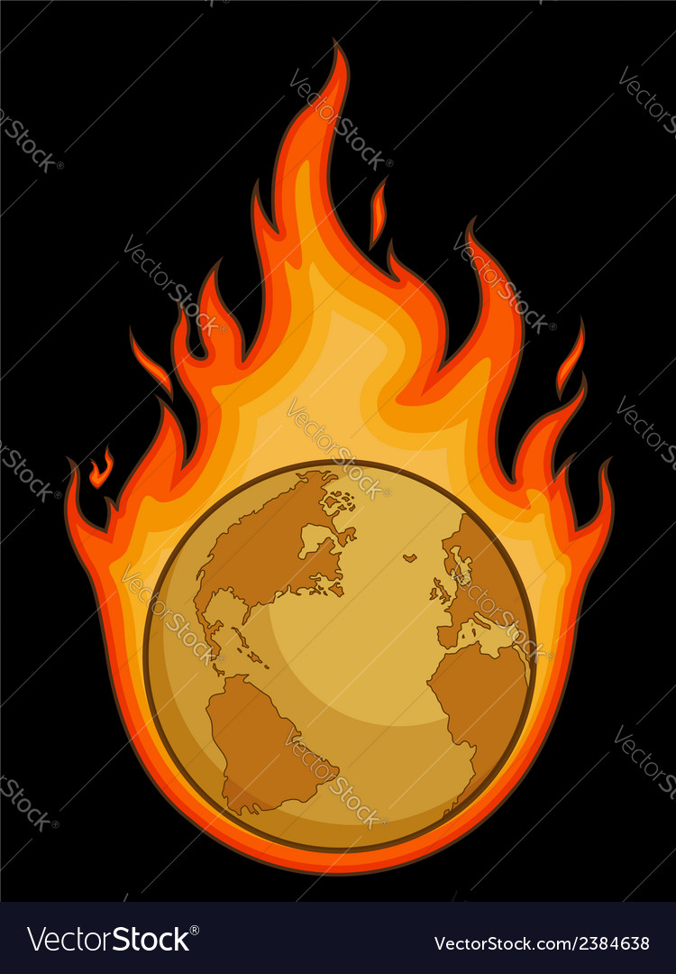 Burning desolated earth vector | Price: 1 Credit (USD $1)