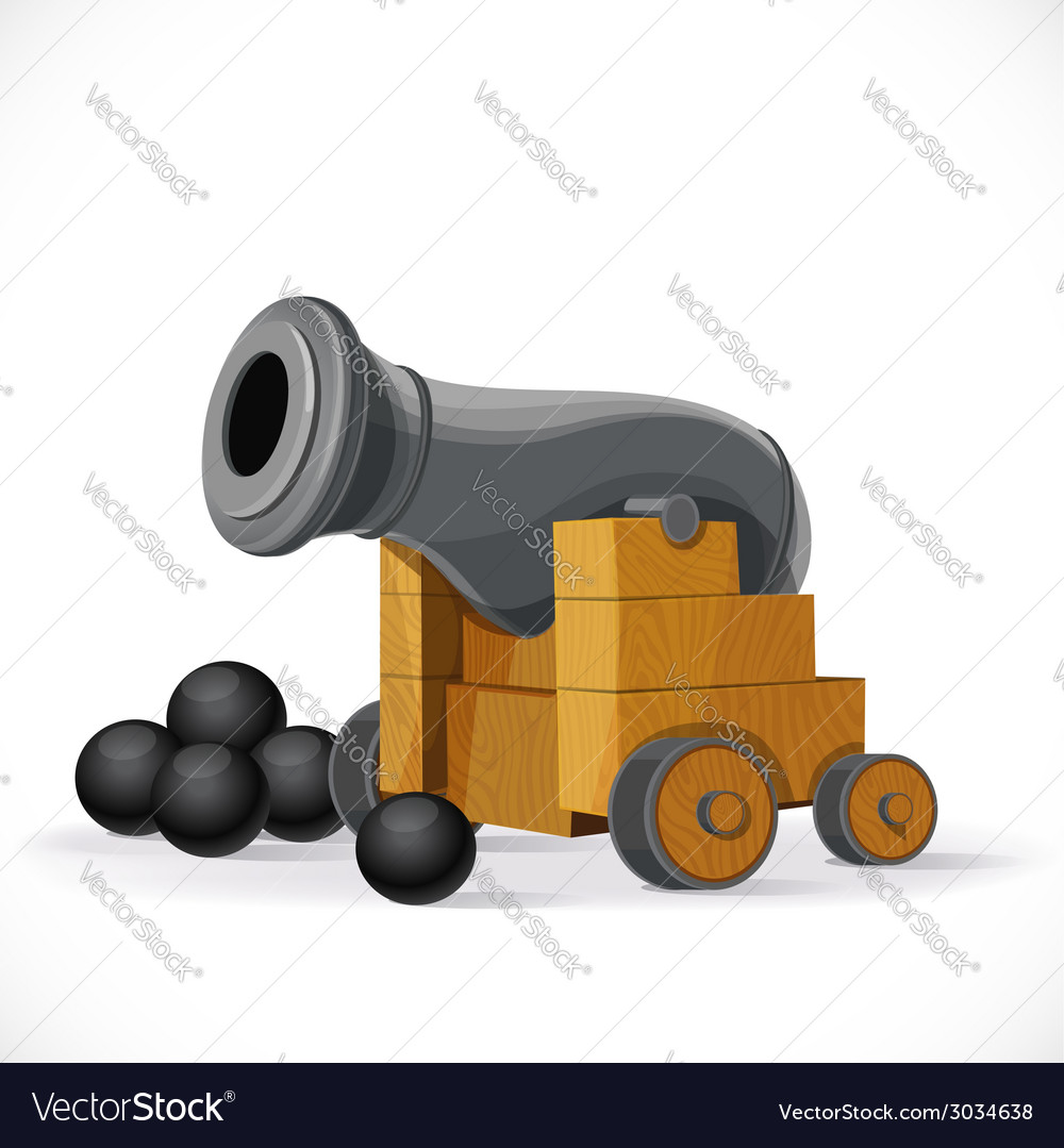Cannon on a white background vector | Price: 1 Credit (USD $1)