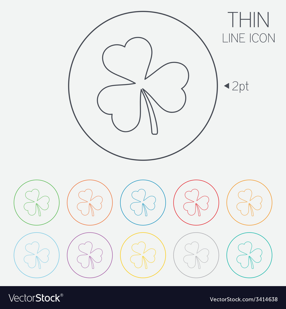 Clover with three leaves sign stpatrick symbol vector